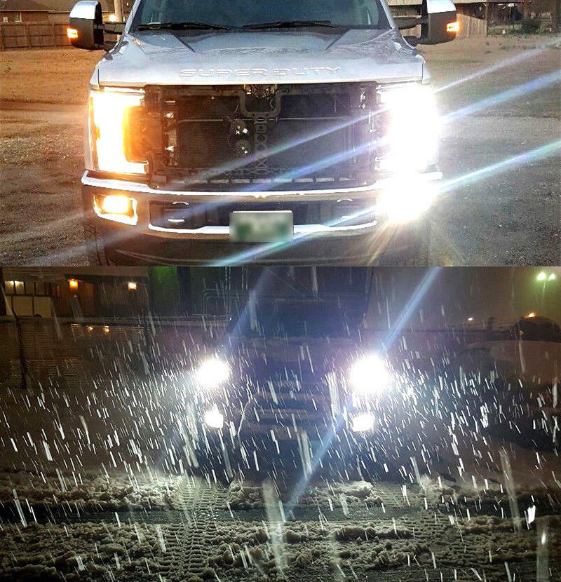 Details About 4 X 6000k White H13 Led Headlight Bulbs For 2017 2018 2019 Ford F250 F350 F450