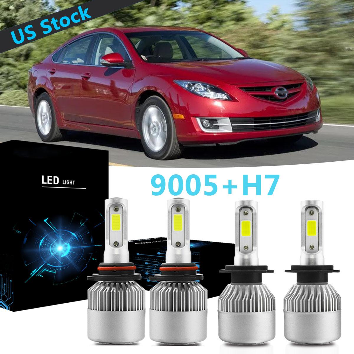 9005 H7 Led Headlight Bulb Hi Lo Beam S2 For Mazda 3 2007 2009 Mazda 6 2011 2013 Ebay