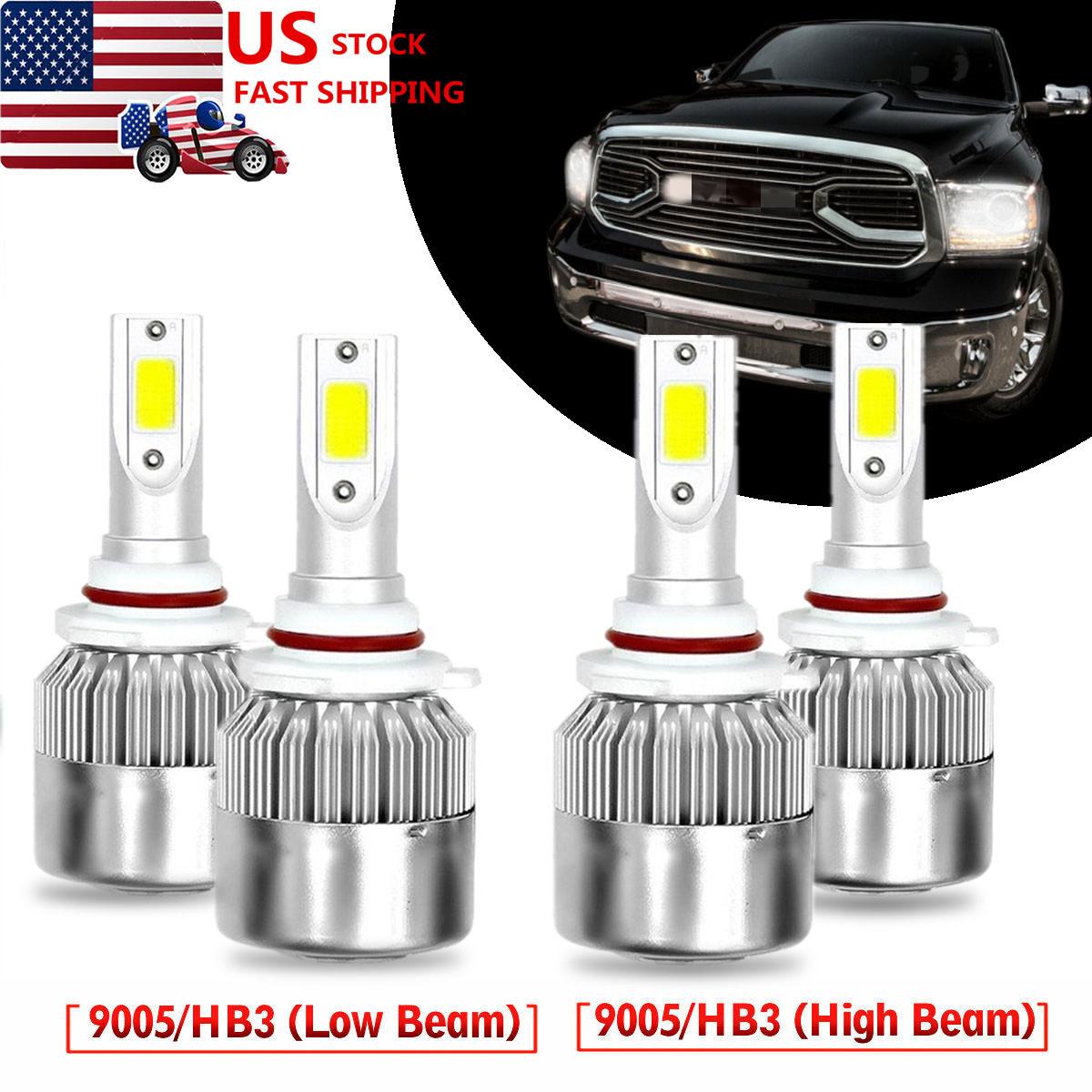 LED Headlight Kit 9005 HB3 6000K White High Beam LED for Cadillac CTS 2003-2007