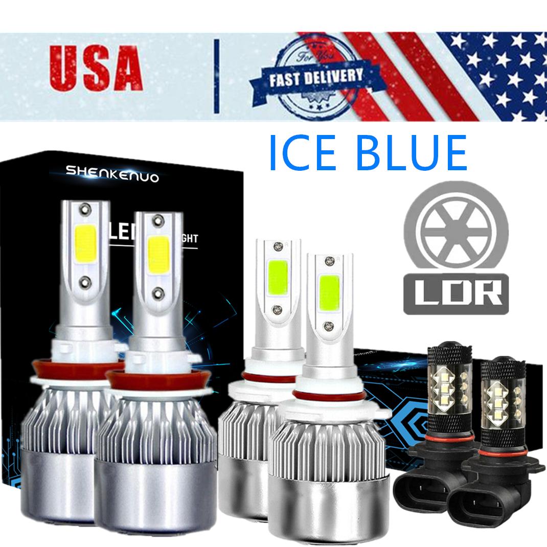 Fog Light 9145 9140 for Ford F-150 2015-2019 CREE 9005 H11 LED Headlight Hi//Lo