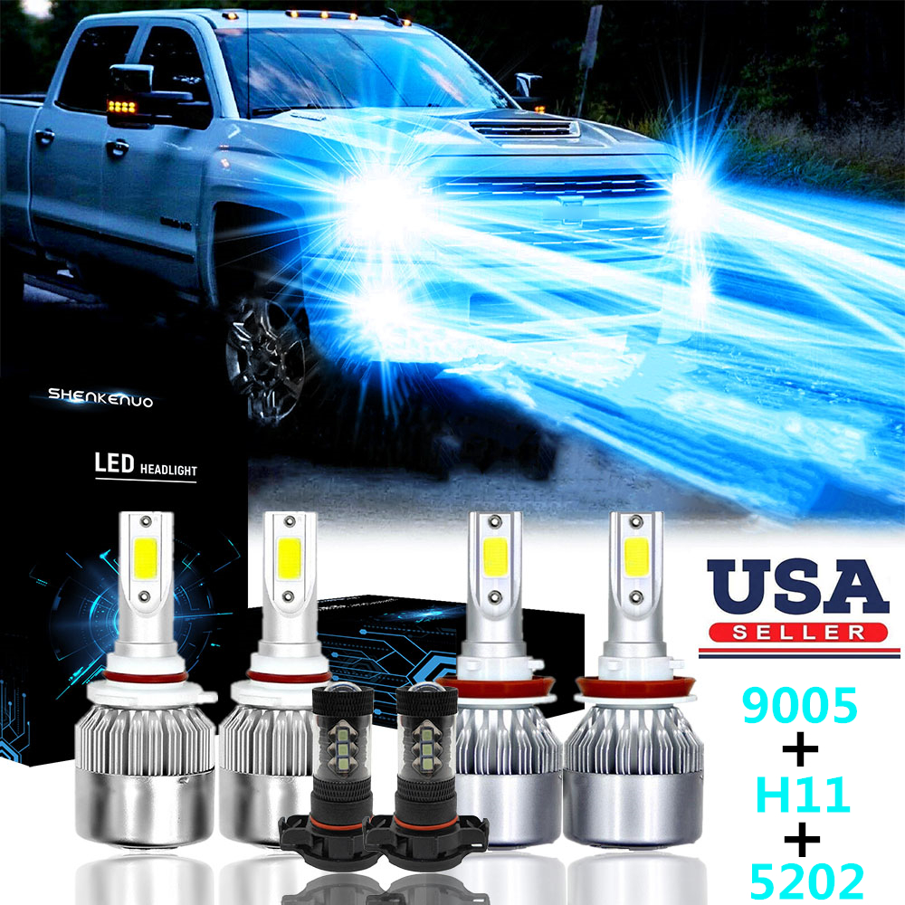 9005 H11 For Chevy Silverado 1500 2500 2007-2015 High//Low Beam HID Xenon KIT USA