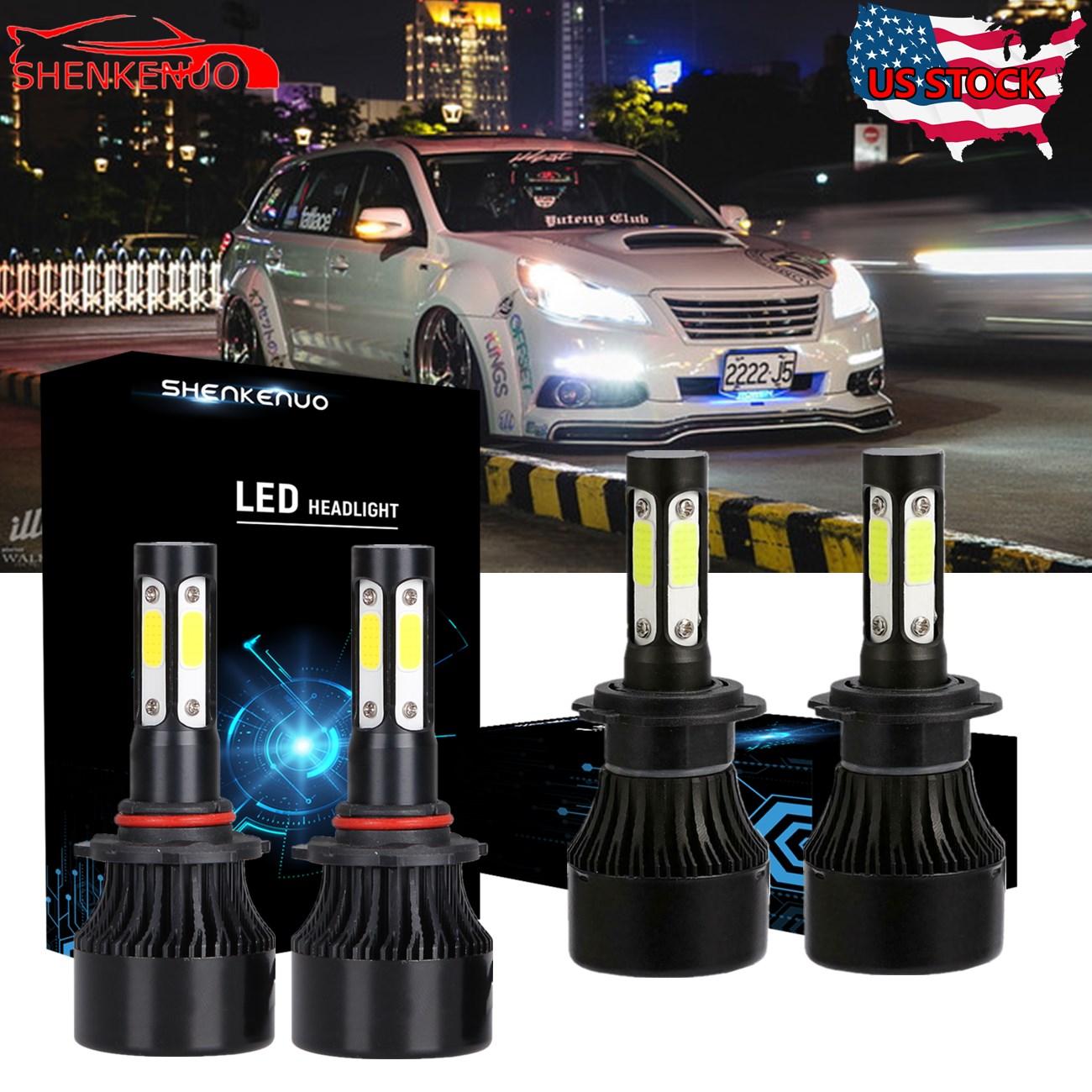 LED Headlight Kit Protekz Bulb H7 6K CREE Low Beam for 2005-2014 SUBARU LEGACY