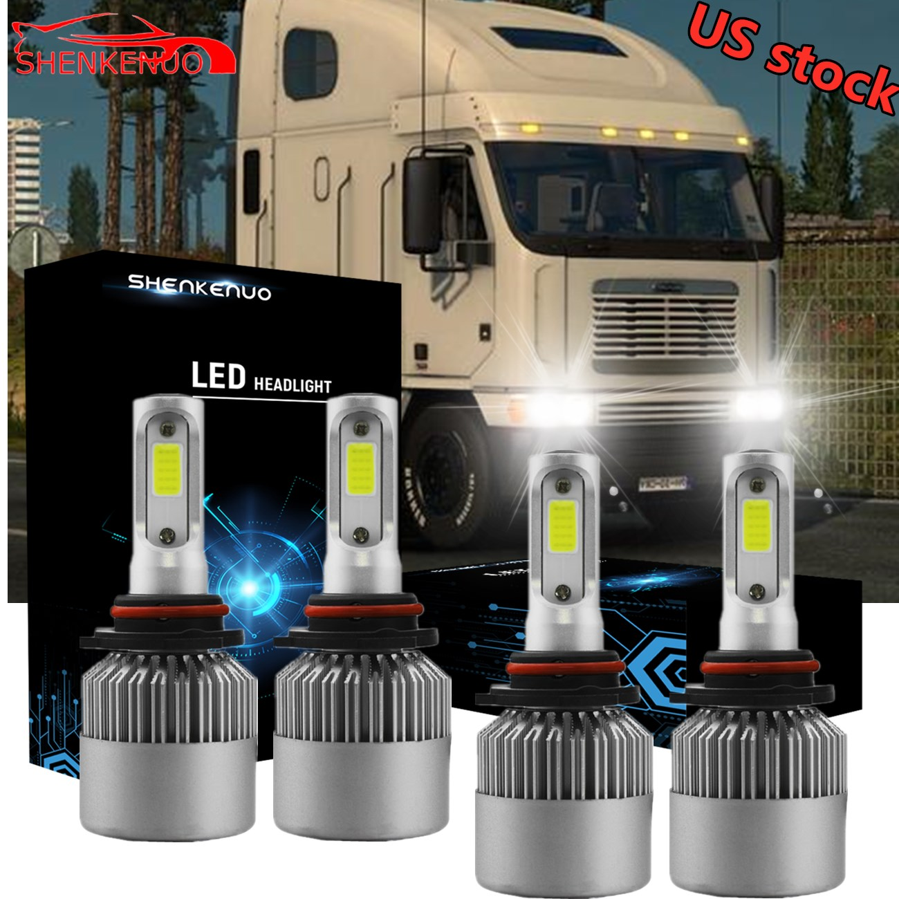 9006 LED Headlight Kit for GMC Sierra Savana 1500 2500 3500 Low Beam White Bulb