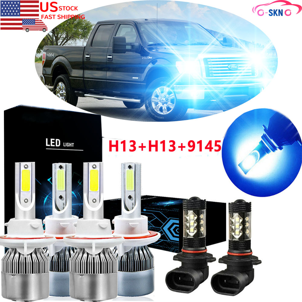 2X H13 9008 LED Headlights Bulbs FOR Ford F250//F350//F450 Super Duty 2005-2007