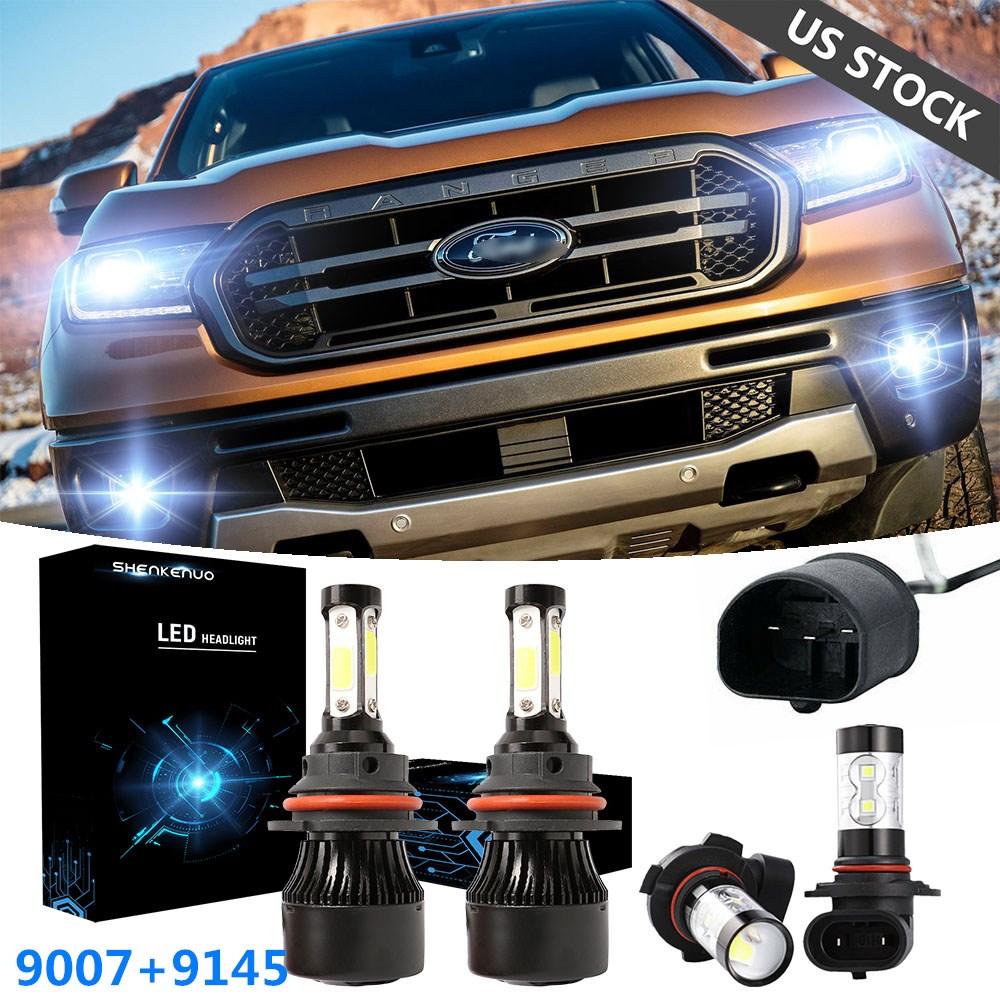 for ford ranger 2001 2011 4 side led headlight high low beam fog light bulbs 4x ebay ebay