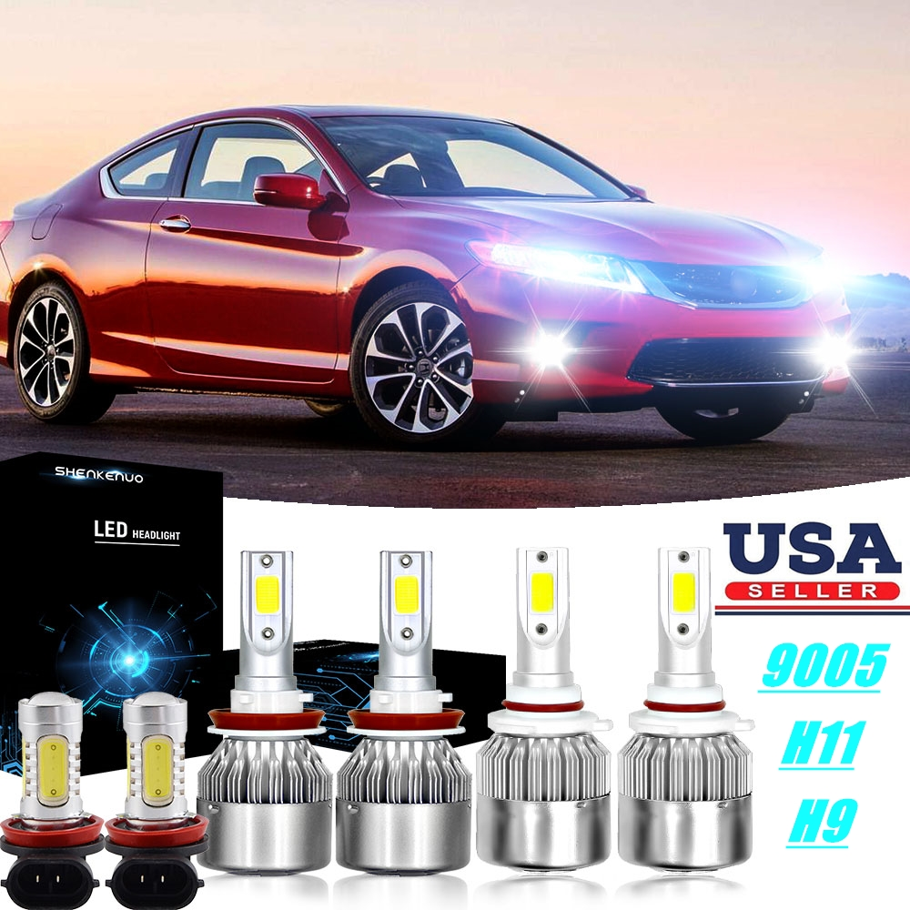 For Honda Accord 2013 2014 2015 2700W Combo LED Headlight Kit High Low+Fog Bulbs
