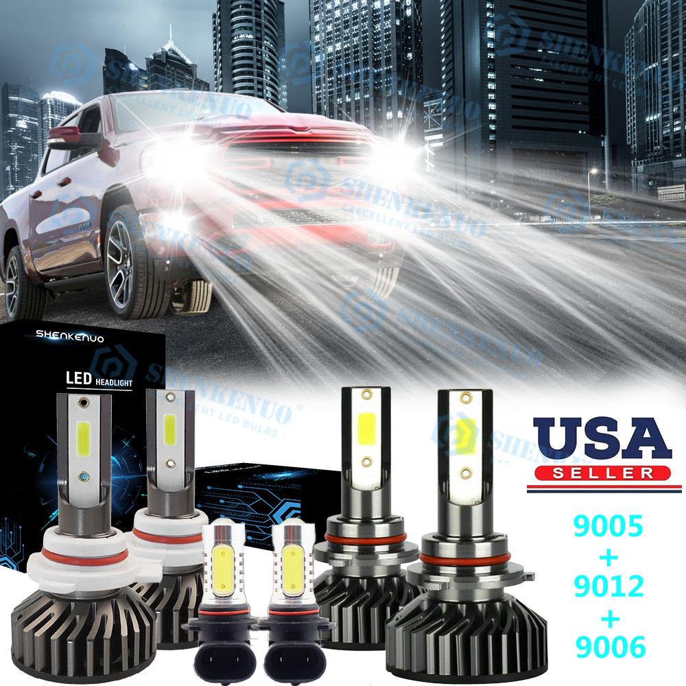 9012 9005 9006 LED Headlights Fog Light for Ram 1500 2500 3500 2013 2014 2015 US