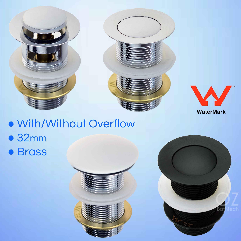 WaterMark 32mm Pop Up Overflow Waste Basin Vanity Sink Push Plug Drain