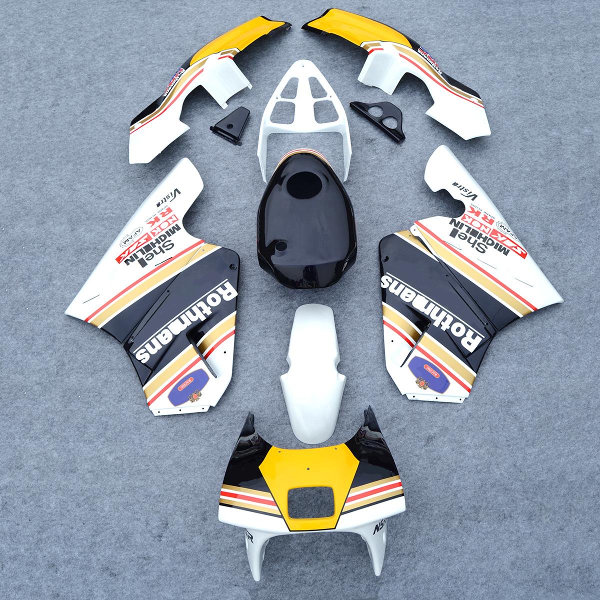 Motorcycle Fairing Bodywork Panel Kit Set Fit for Honda NSR250R MC18 1988-1989