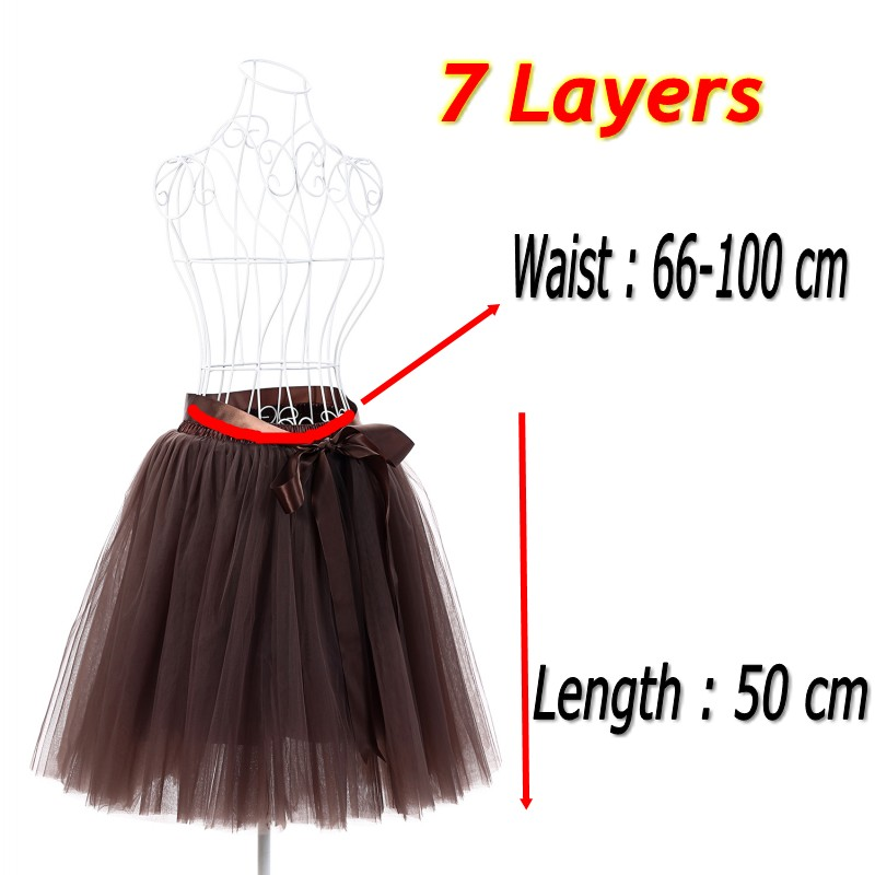 Women/'s 7 Layers *100  Long Princess Tulle Skirt Wedding Party Prom Dress