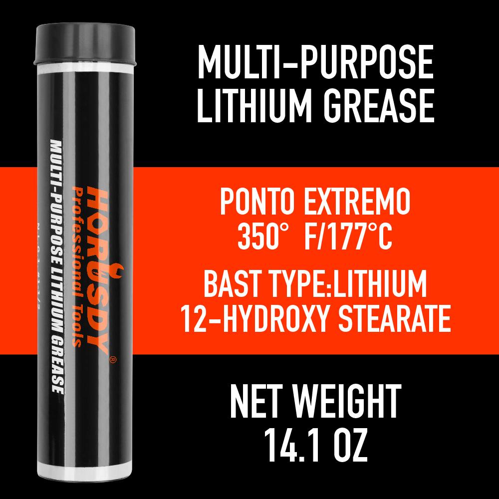 """Heavy Duty Deluxe Grease Gun Pistol Grip 12/"""" Flex Hose Manual 14oz Cartridge New"""