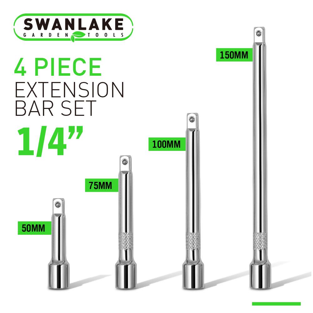"4pc 1//2/"" LONG Extension Bar Set 3/"" 5/"" 8/"" 10/"" Socket Ratchet NEW FREE SHIPPING"