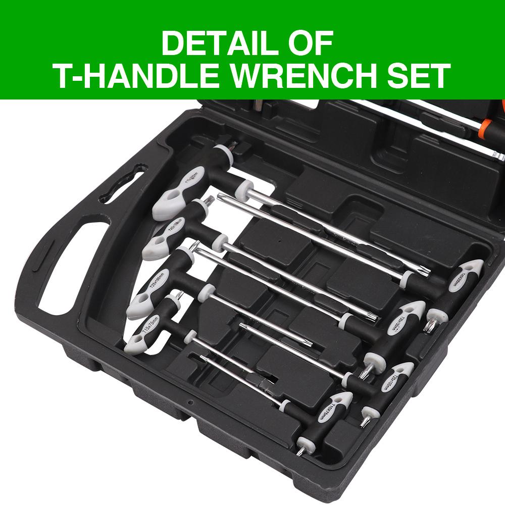 31 pcs Hex Allen L Wrench SAE /& Métrique /& Torx Set Bras long avec porte-outil