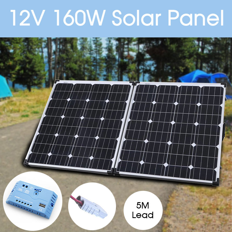 Solar Panels Generic Powertech 12v 100w Folding Solar Panel With 5m Lead