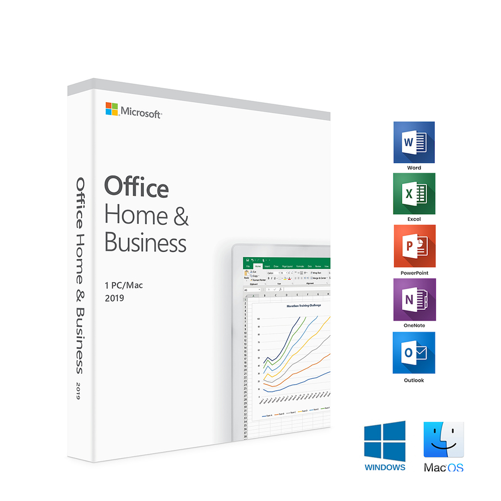 Details about Microsoft Office Home and Business 2019 1 PC/Mac English  T5D-03251 Medialess