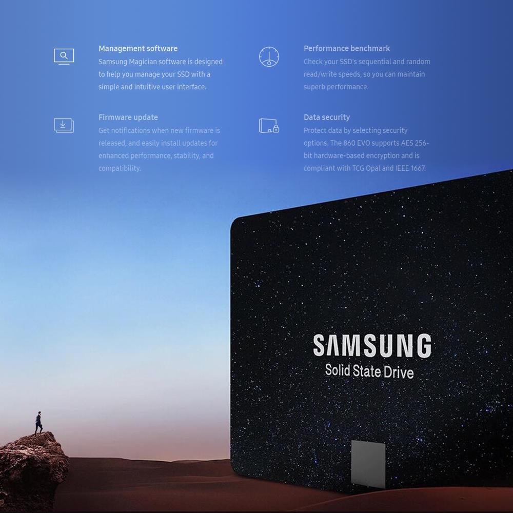 Details about Samsung 860 EVO SERIES SSD 250GB/500GB/1TB V-NAND 2 5