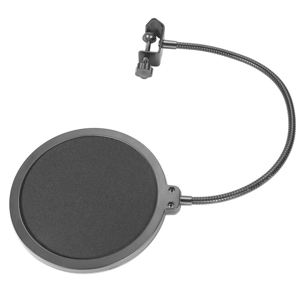 Microphone-Recording-Studio-Wind-Screen-Pop-Filter-Mask-Shield-Double-Layer thumbnail 8