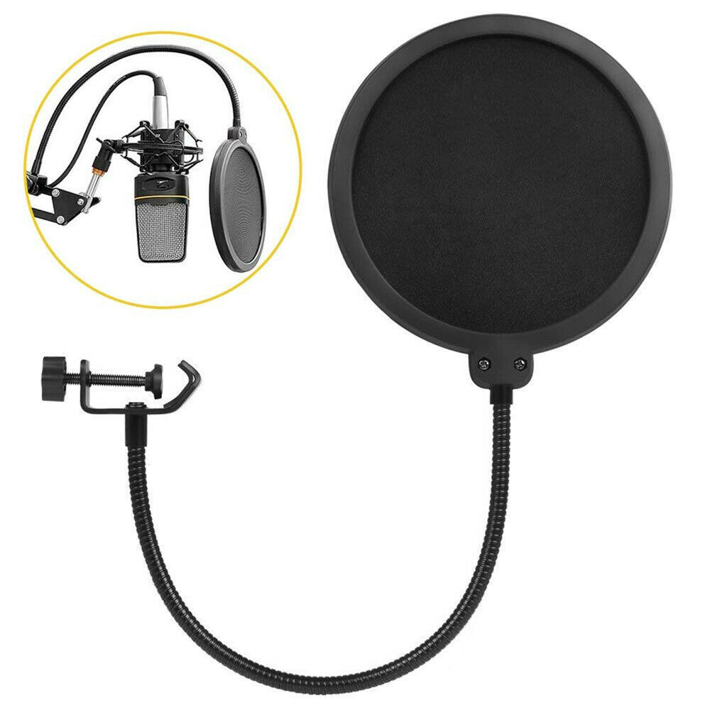 Microphone-Recording-Studio-Wind-Screen-Pop-Filter-Mask-Shield-Double-Layer thumbnail 12