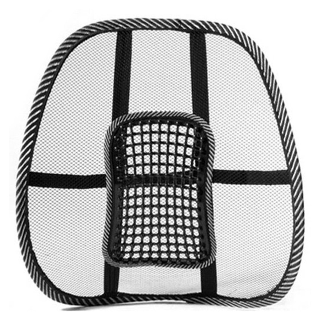 Car Office Seat Chair Massage Back Lumbar Support Mesh Ventilate Cushion Pad US