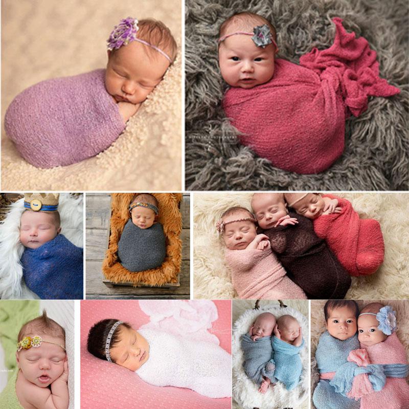 US 40*150cm Infant Stretch Wrap Photography Nubble Wraps Newborn Baby Photo Prop