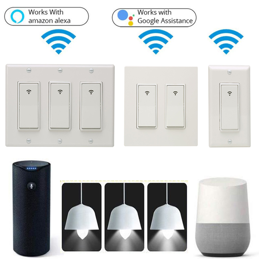 Smart 1 2 3 Gang Wifi Wall Touch Light Switch Panel Timer App Remote Wire 10a No Neutral Presence Detector Product Gallery