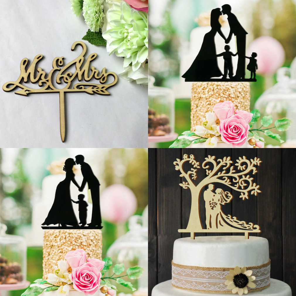 Romantic Mr /& Mrs Cake Wedding Engagement Bride Groom Party Top Decoration CA