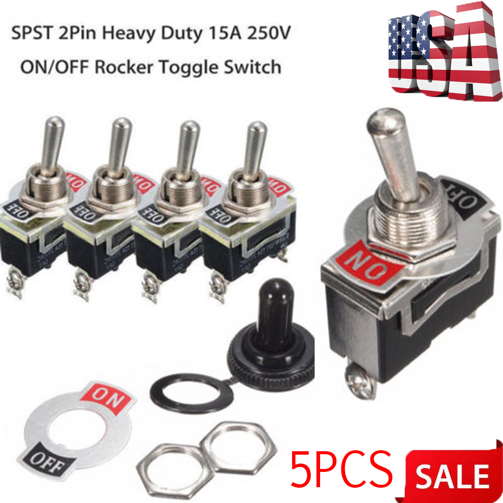 Business, Office & Industrial 12V Heavy Duty Toggle Switch SPST On/Off Type