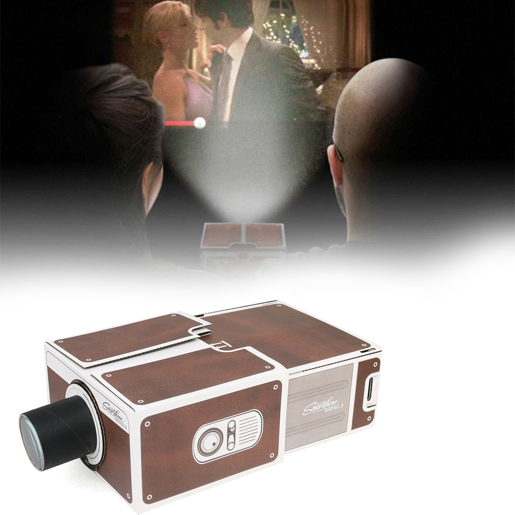Details About Mini Diy Cardboard Movie Projector Portable Cinema For Android Smartphone Iphone