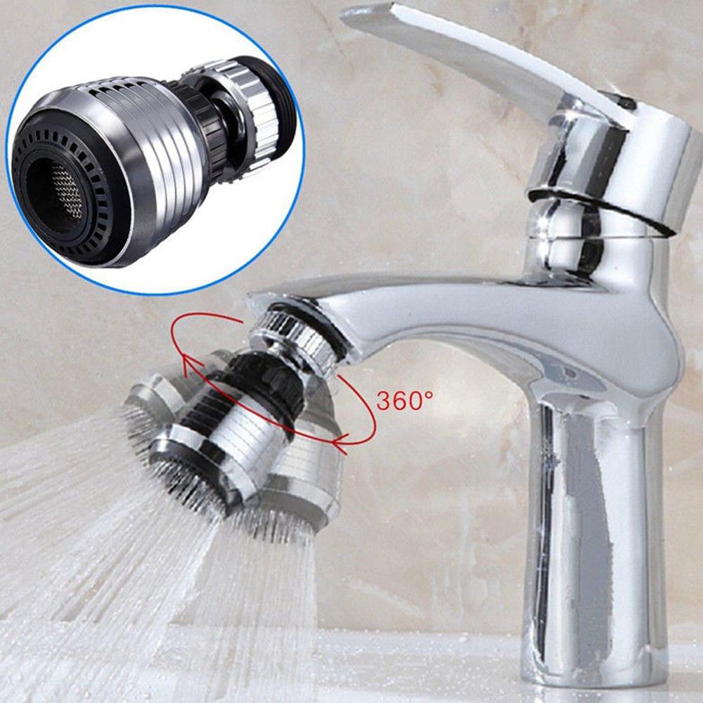 360°rotation Faucet Shower Head Filter Water Stream Tap Bubbler Bathroom Kitchen