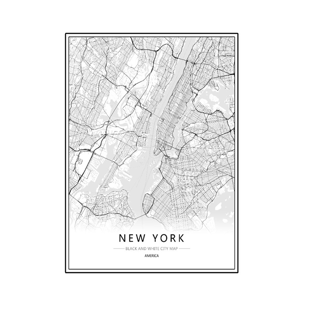 Map Of New York Poster.Details About Framed World City Map London Paris New York Poster Home Deco Art Canvas Painting