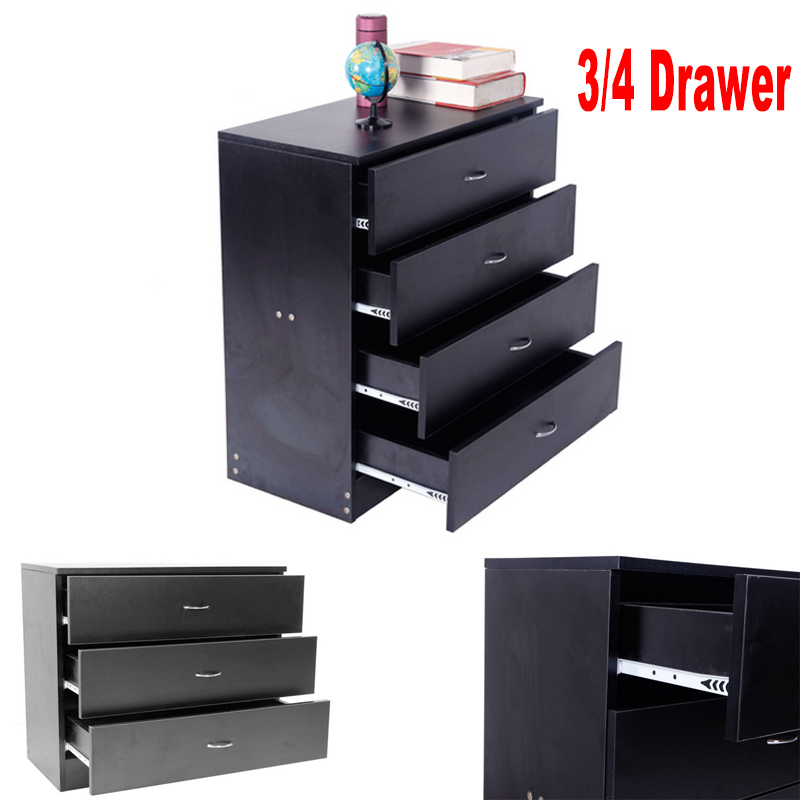 Details about Black Bedroom Furniture Armoire Dresser Drawer Nightstand  Chest Dressers 3 4
