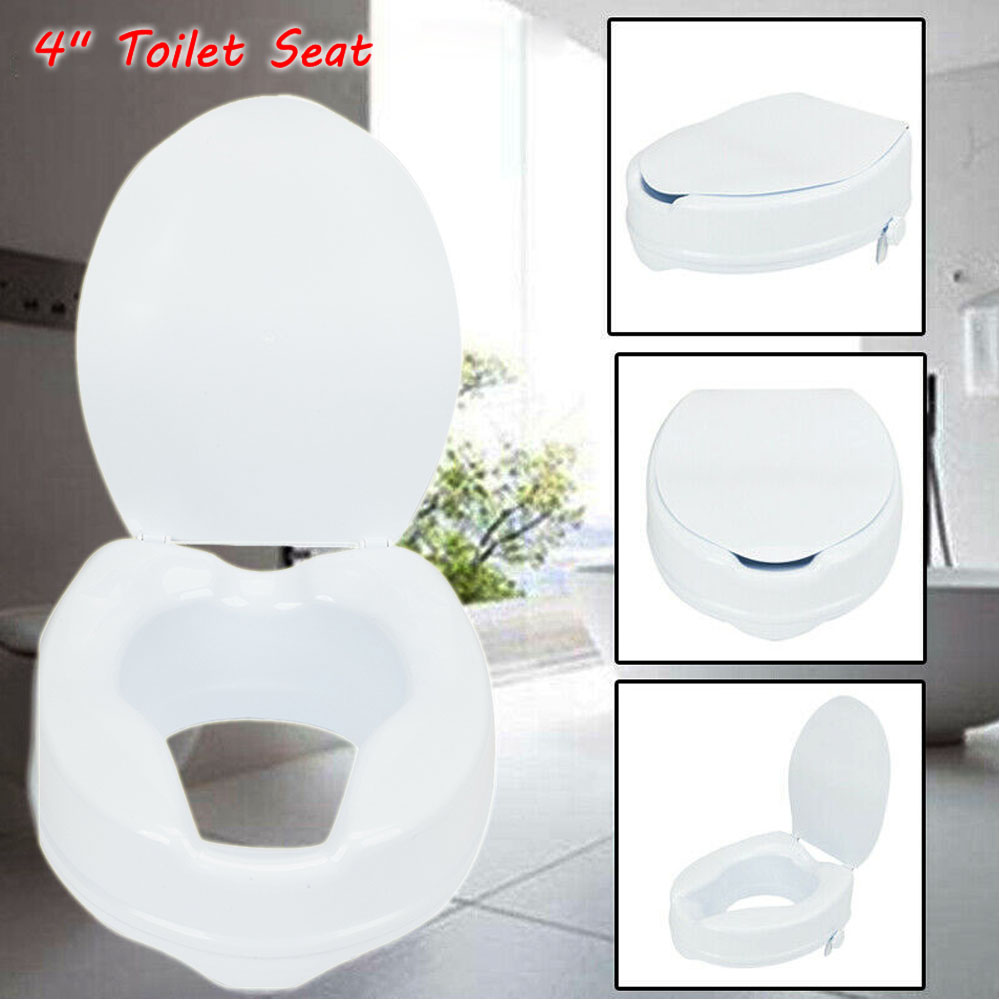 Remarkable Details About Raised Toilet Seat W Lock And Lid 4 Elevated Riser Bathroom Mobilit Aid Safe U Alphanode Cool Chair Designs And Ideas Alphanodeonline
