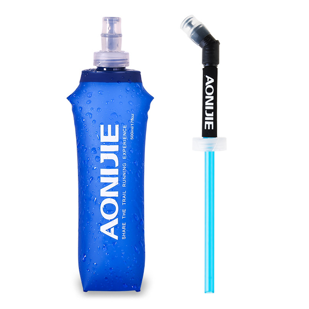 AONIJIE Portable 250//500ML Foldable Soft Flask TPU Squeeze Water Bottle Bags