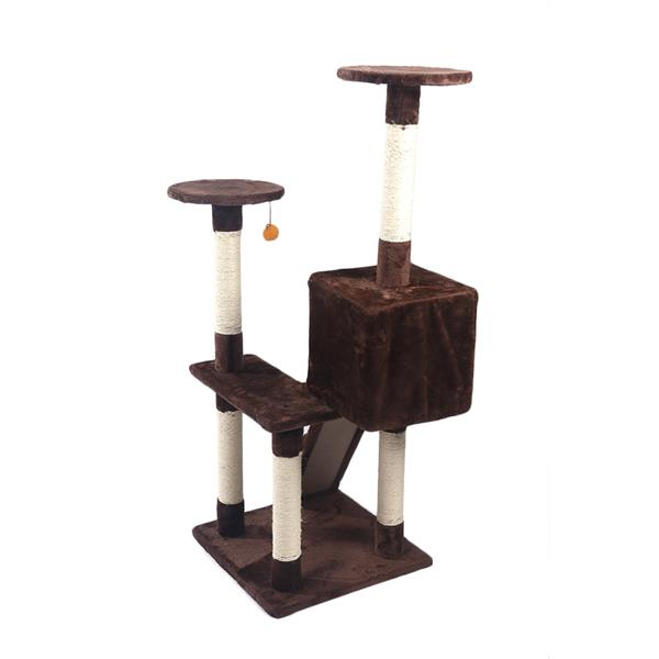 """New M84 52/"""" Sisal Pet Cat Tree Play House Tower Condo Bed Scratch Post Kitten"""