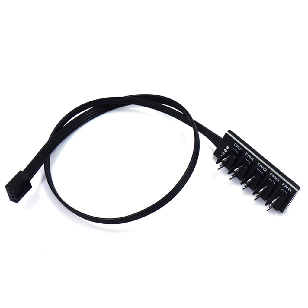 1 To 5 4-Pin PWM CPU Fan HUB Cooling Splitter Adapter Braided Power Cable 40c Yg