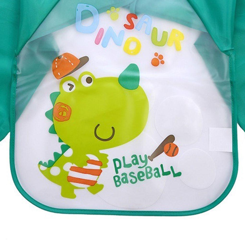 Stevlogs Lovely Baby Bibs Infant Long Sleeve Waterproof Baby Feeding bib Children Coverall Smock Children Plastic Coverall Bib Toddler Scarf