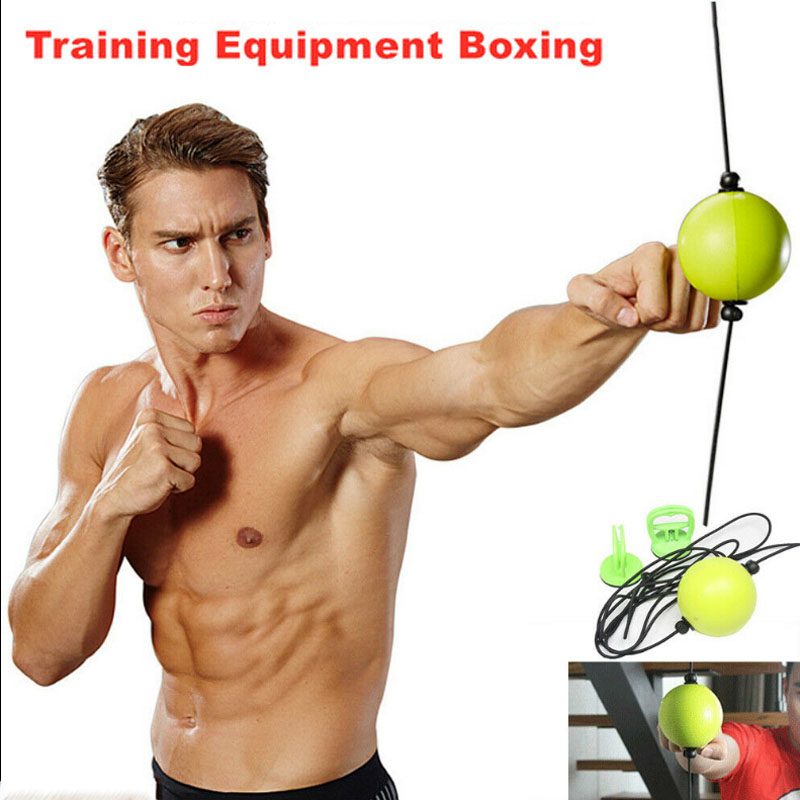 Leather Double End Dodge Speed Ball MMA UFC Boxing Floor to Ceiling Punch Bag