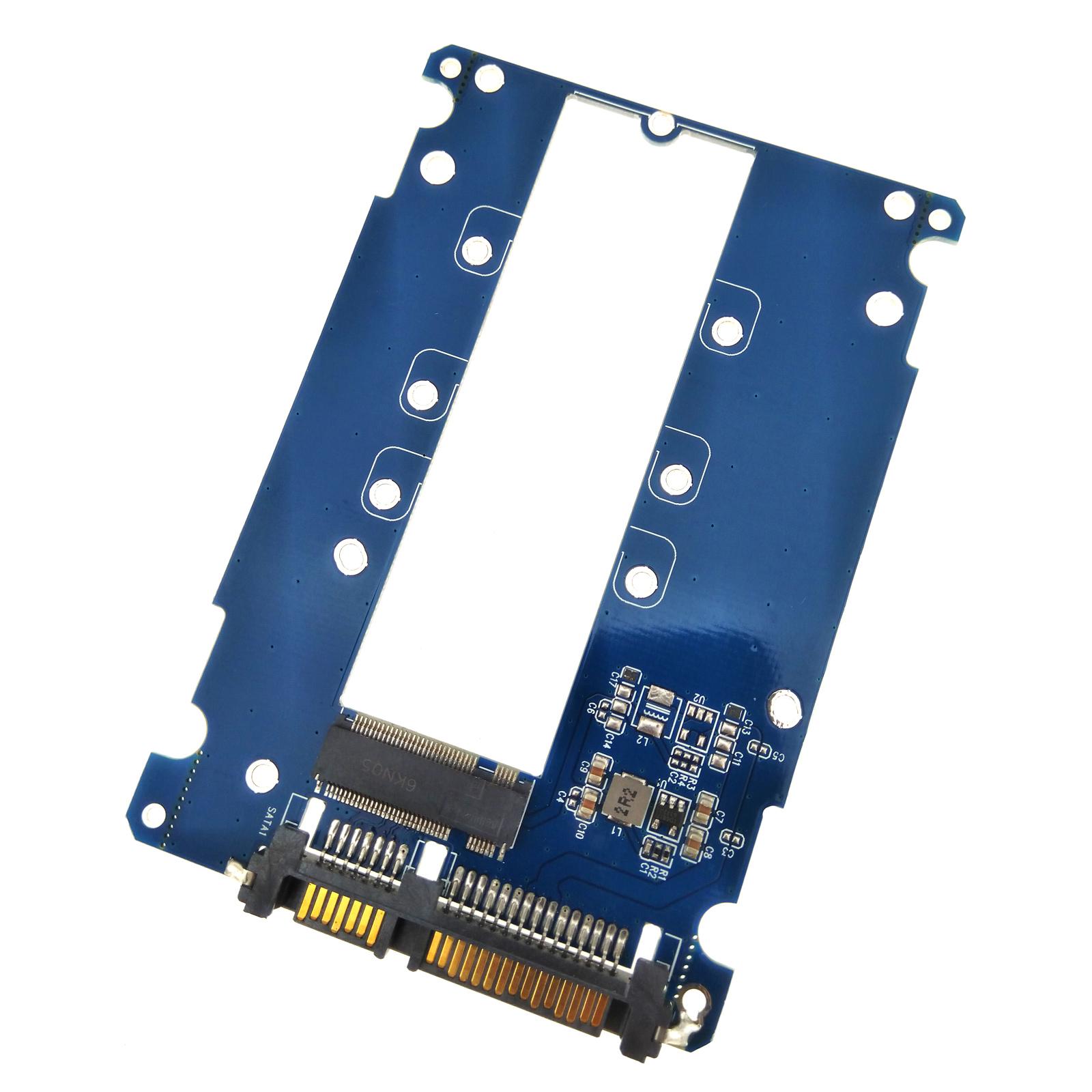 Locking Latch Cable B M Key NGFF M2 SSD Dual Slot to SATA PCI-e Adapter Card