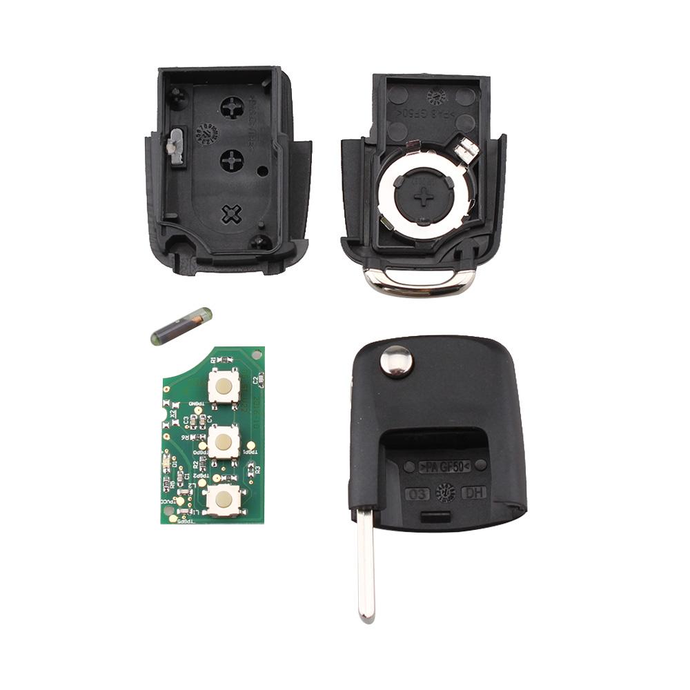 Flip Remote Key Fob 434MHz 1J0 959 753 DA ID48 Chip 3B For