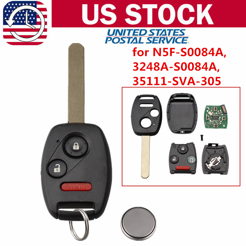 Honda Civic Key Replacement >> Details About Replacement For 2006 2007 2008 2009 2010 2011 Honda Civic Lx Remote Car Key Fob