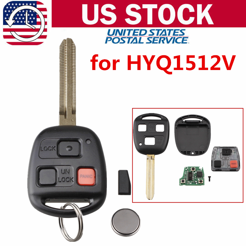 Car Remote Key >> Details About Replacement For 2008 2009 Toyota Fj Cruiser Keyless Entry Car Remote Key Fob
