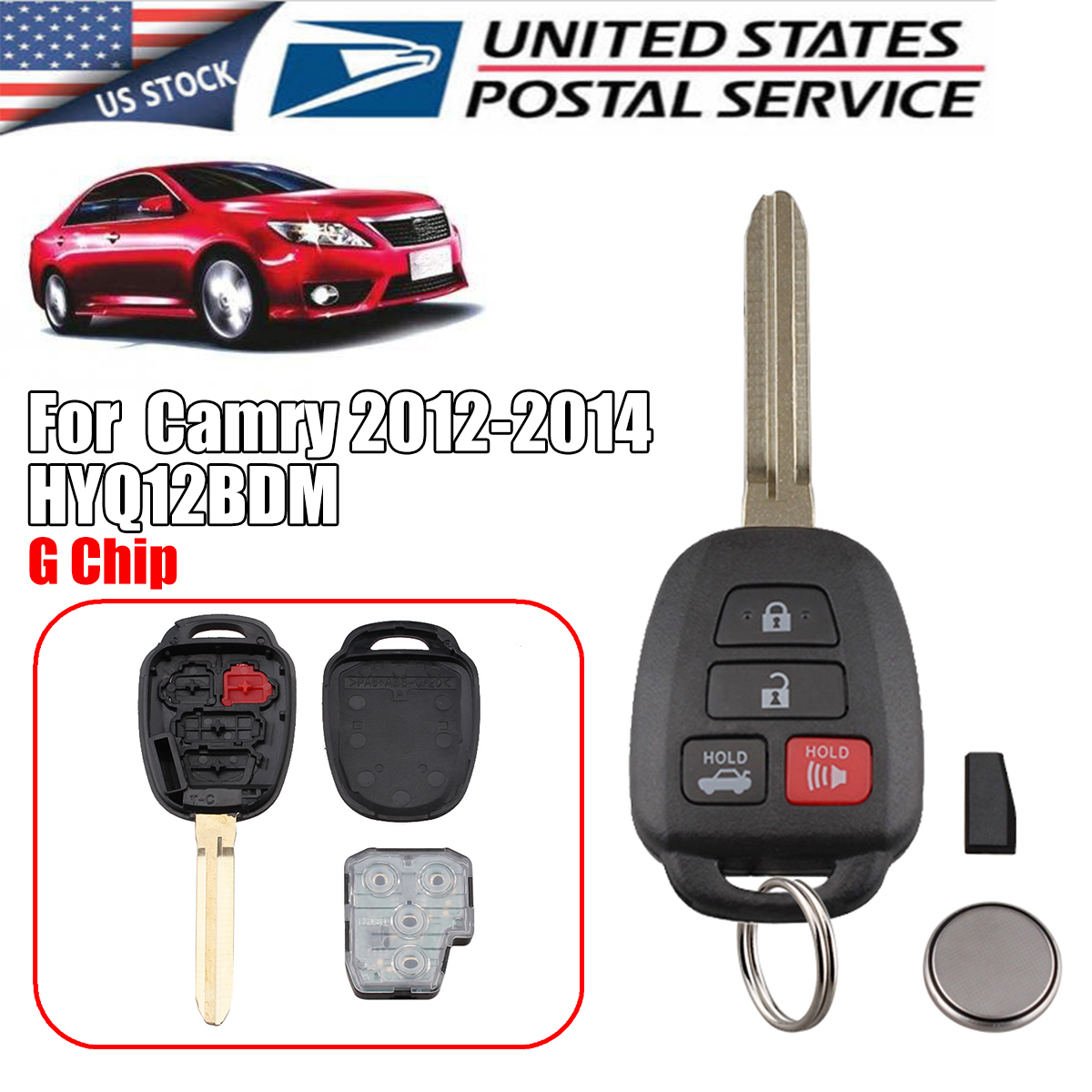 2013 toyota camry key fob battery type