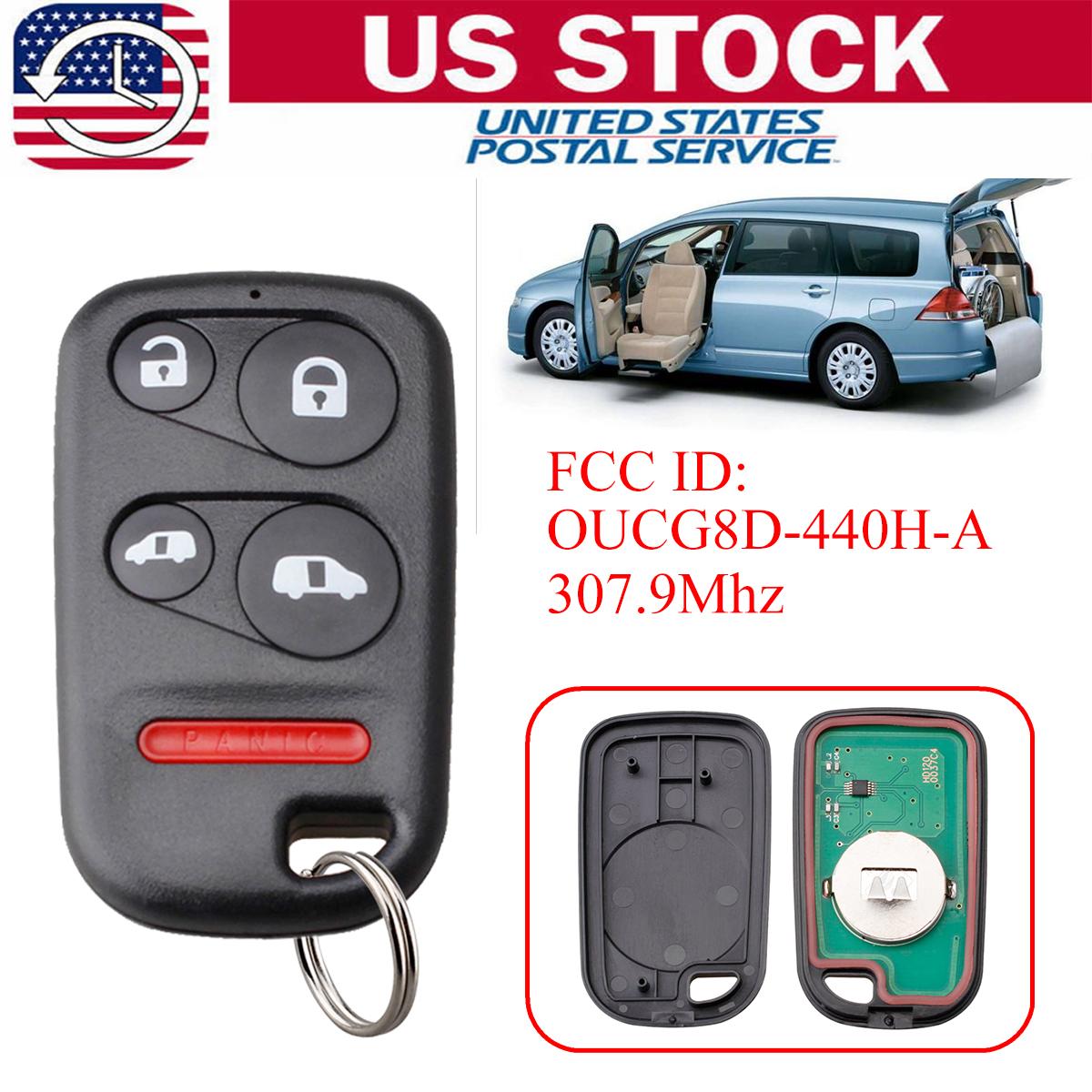 2 Car Key Fob Keyless Remote 4B For 2002 2003 2004 Honda Odyssey