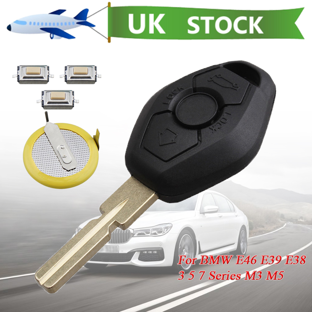 Details About Battery Replacement Repair Key Fob Case For Bmw E46 E39 E38 3 5 7 Series M3 M5