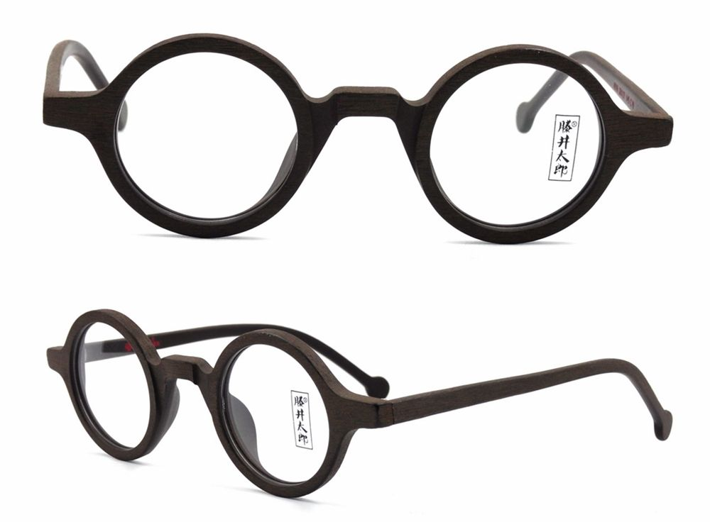 38mm Small Round Vintage Eyeglass Frames Acetate Rx-able Spectacles ...
