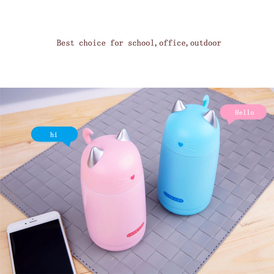 About Cat Vacuum Mug Water Steel Bottle Cup Details Travel Mini Thermos Cute Fashion Stainless GLqjUpMzSV
