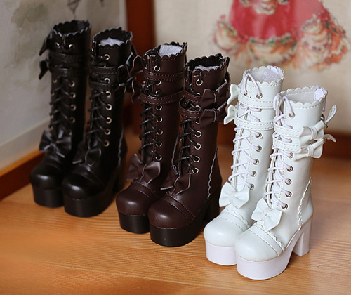 1//3 BJD Shoes SD Boots Supper Dollfie Boots Dollmore Luts AOD DZ MID High heels