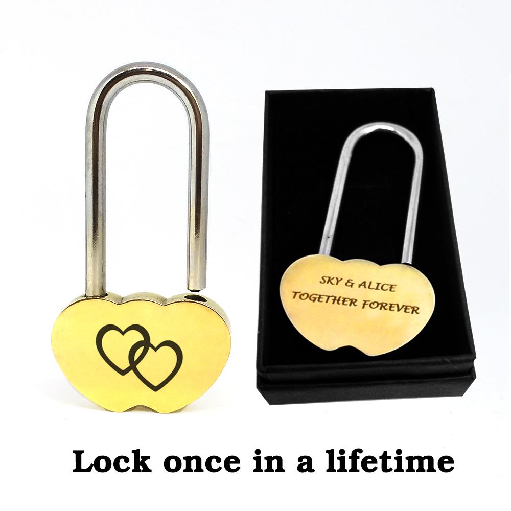 Engraved Love Lock Padlock wedding boyfriend anniversary bridge couple gift