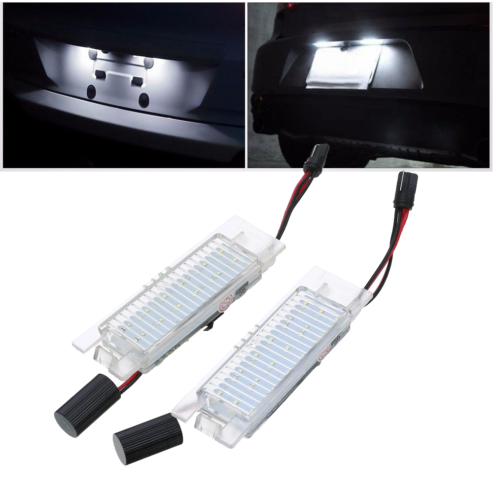 2 Pcs 18 Led License Plate Light For Vauxhall Opel Corsa C
