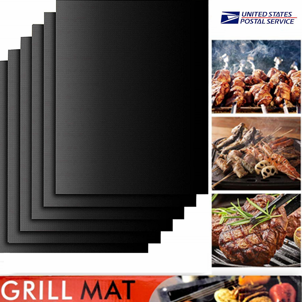 BBQ Grill Mat Reusable Resistant Non-Stick Barbecue Baking Sheet Cooking Meat
